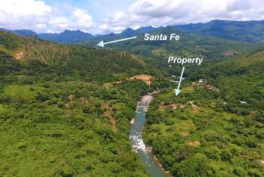 Riverfront property for sale in santa fe, veraguas