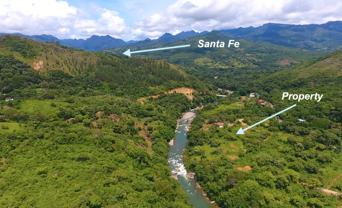 River front Property for sale Santa Fe, Veraguas, panama
